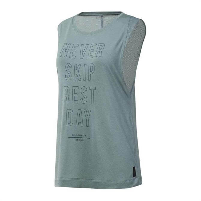 Reebok Women's Training Supply Graphic Tank Top - Teal Fog