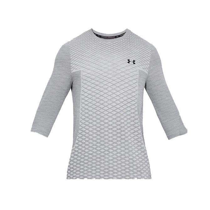 Under Armour Men's Vanish Seamless 3/4 Sleeve T-Shirt – Grey