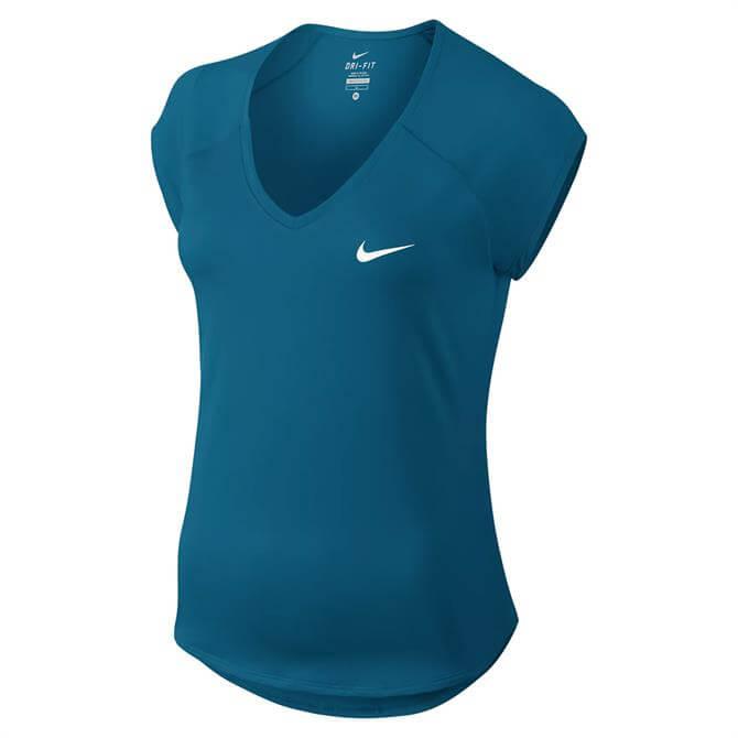 Nike Court Pure Women's Tennis Top- Neo Turquoise