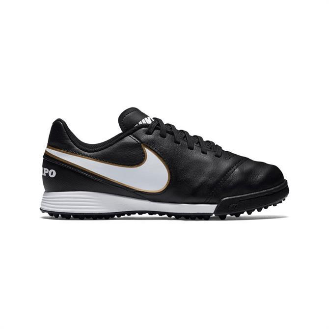 Nike Junior Tiempo Legend VI Turf TF Football Boots Black