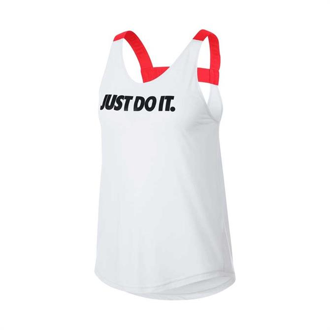 Nike Women's Breathe Elastika Training Tank- White
