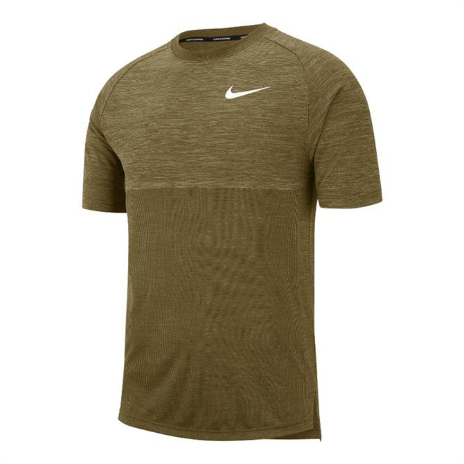 Nike Men's Dri-FIT Medalist Short Sleeve T-Shirt- Olive