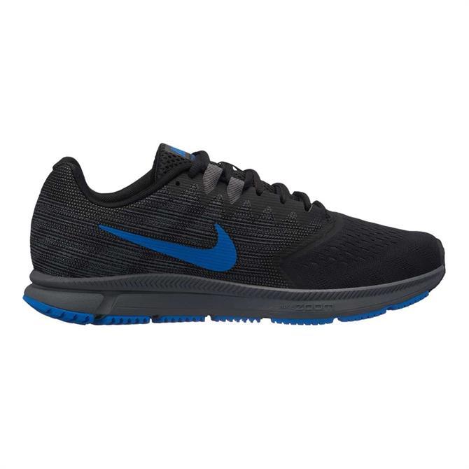 Nike Men's Zoom Span 2 Running Shoes- Black/Blue