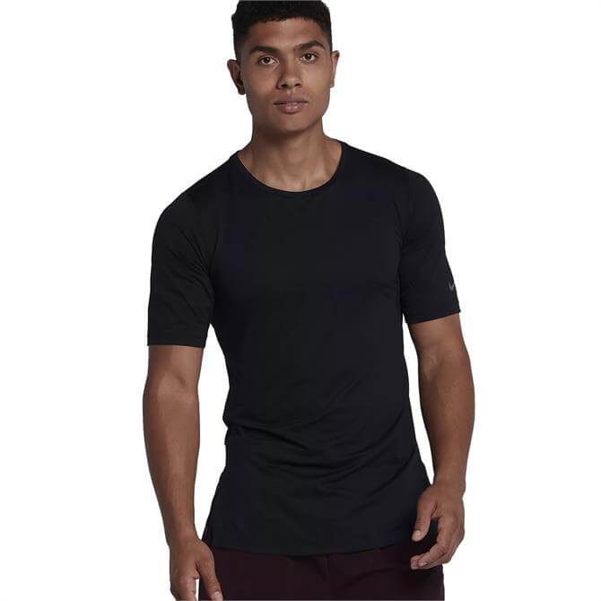 Nike Men's Dri-FIT Utility Short-Sleeve Training Top- Black