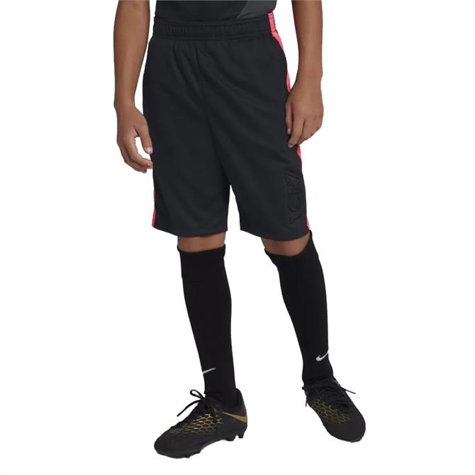 Nike Junior Dri-FIT CR7 Football Shorts- Black Hot Punch