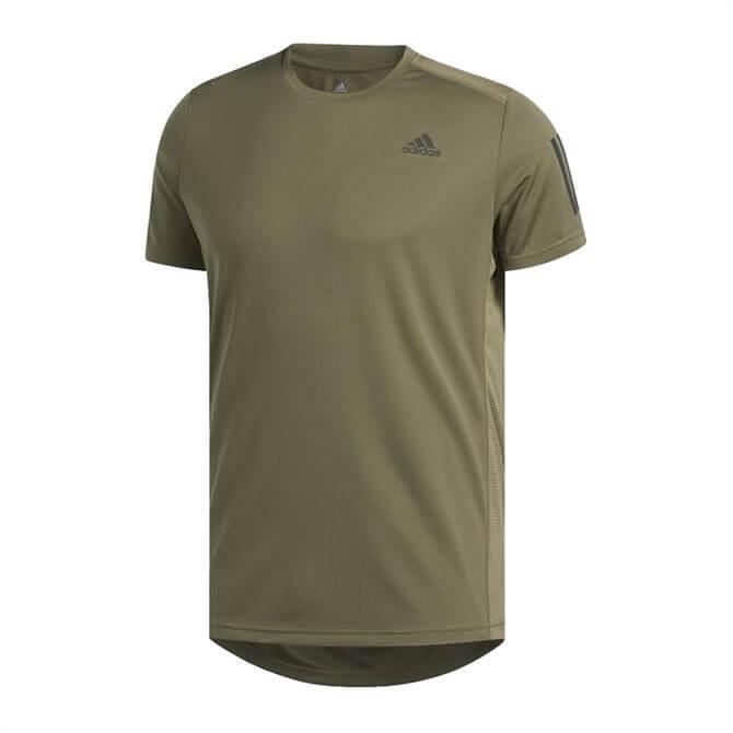 Adidas Men's Own The Run T-Shirt - Khaki
