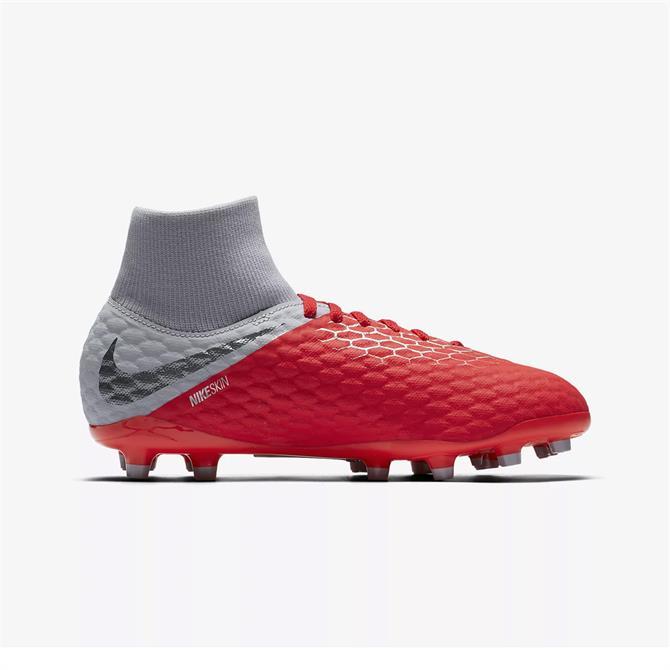 Nike Junior Hypervenom Phantom III Firm Ground Football Boot- Light Crimson