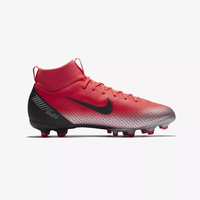 Nike Junior Mercurial Superfly 6 CR7 Multi-Ground Football Boot- Bright Crimson