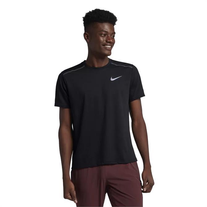 Nike Men's Breathe Rise 365 Short Sleeve T-Shirts- Black
