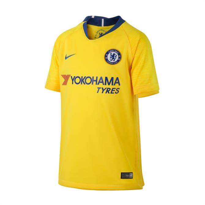 Nike Junior Chelsea FC Stadium Away Football Shirt 18/19- Tour Yellow