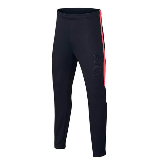 Nike Junior CR7 Dry Football Trcksuit Bottoms-Black Hot Punch