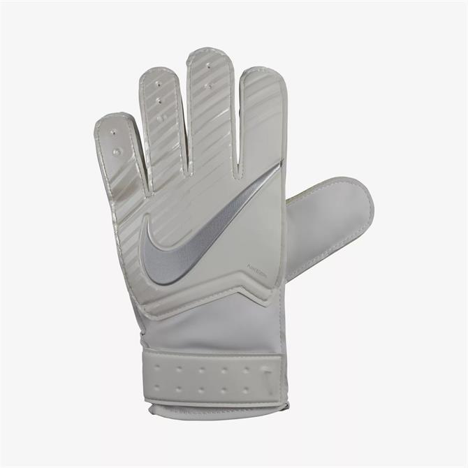 Nike Match Goalkeeper Football Gloves-White Chrome