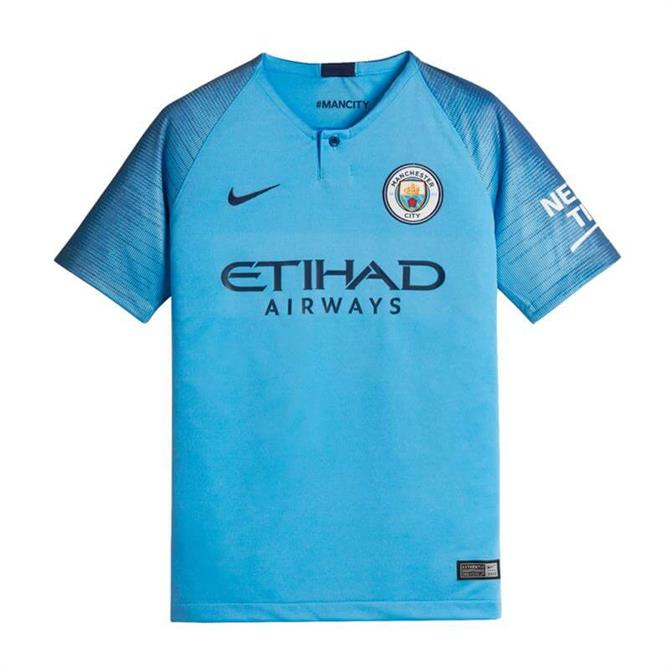 Nike Junior Manchester City FC Home Football Shirt 2018/19