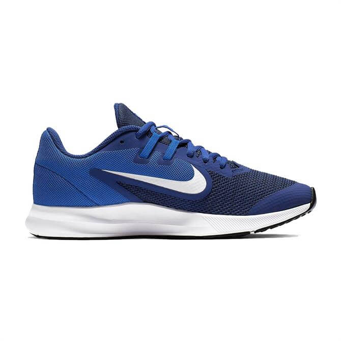 Nike Older Kid's Down Shifter 9 Running Shoes - Deep Royal Blue
