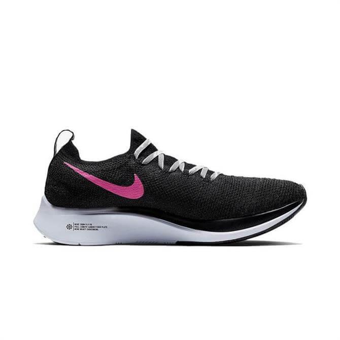Nike Zoom Women's Flyknit Running Shoes - Black/Hyper Pink