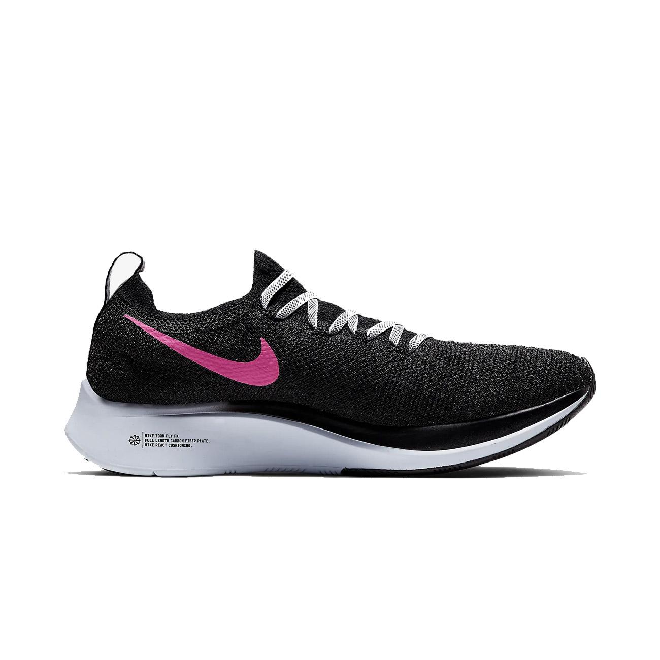 cheaper 28955 d294a Nike Zoom Women's Flyknit Running Shoes - Black/Hyper Pink