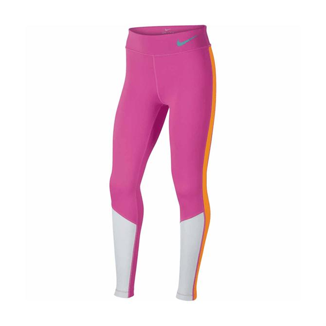 Nike Older Kid's Trophy Colourblock Fitness Tights - Vivid Pink