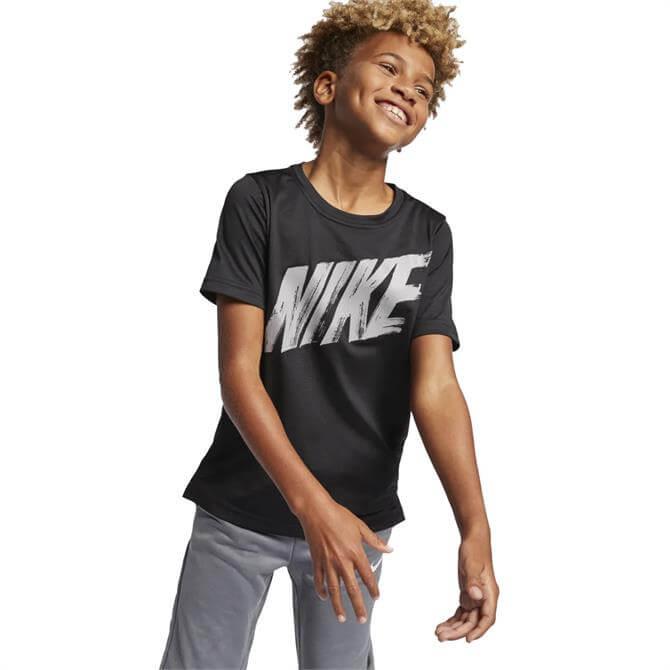 Nike Dri-FIT Short Sleeve Top - Black Atmosphere Grey