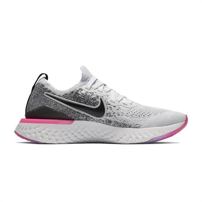 Nike Women's Epic React Flyknit 2 Running Shoe - White Black