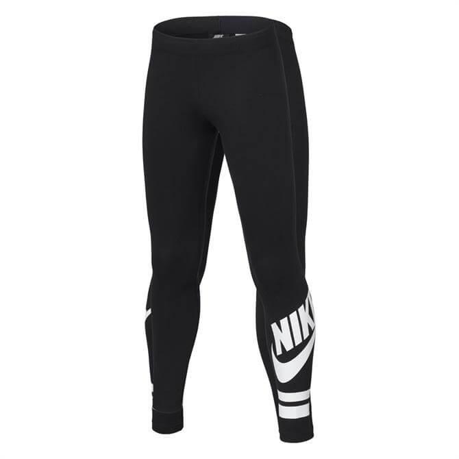 Nike Junior Soft Favourite Sportswear Leggings - Black White