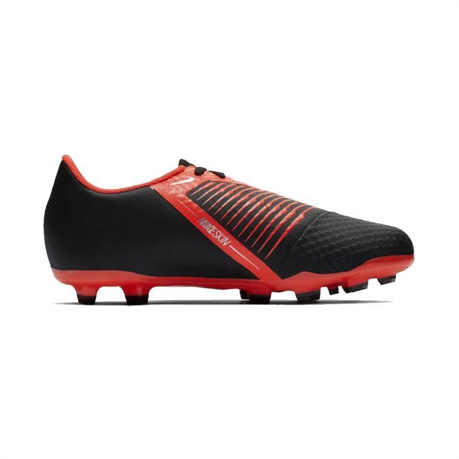 Nike Junior Phantom VNM Academy Firm Ground Football Boot - Black