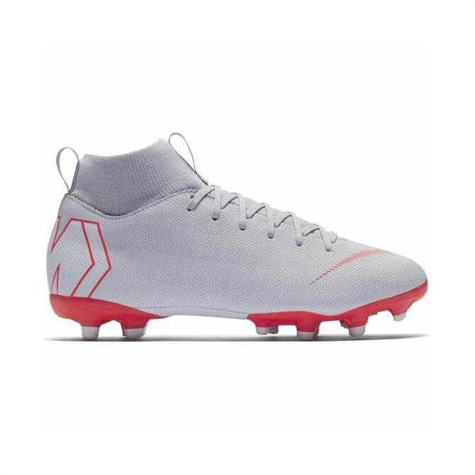 Nike Junior Mercurial Superfly 6 Academy Multi-Ground Football Boot- Wolf Grey
