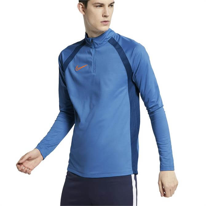 Nike Men's Dri-FIT Academy Drill Long Sleeve Top - Pacific Blue