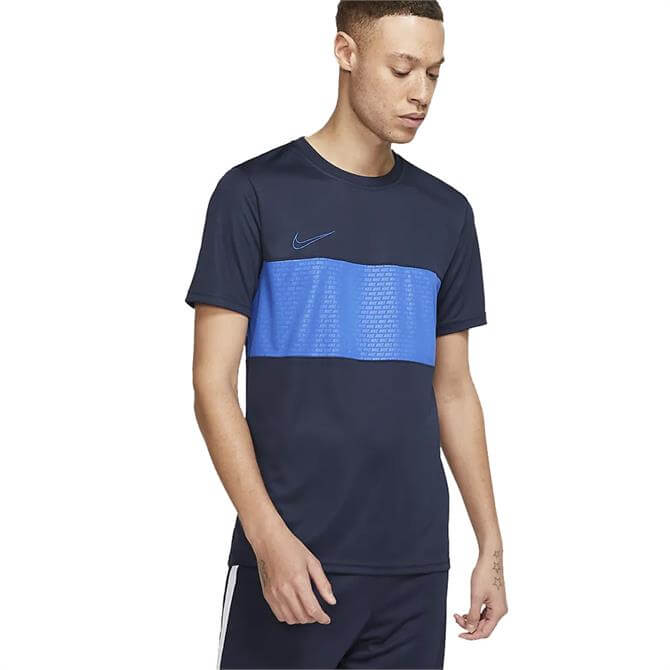 Nike Men's Dri-FIT Academy Short Sleeve T-Shirt - Obsidian