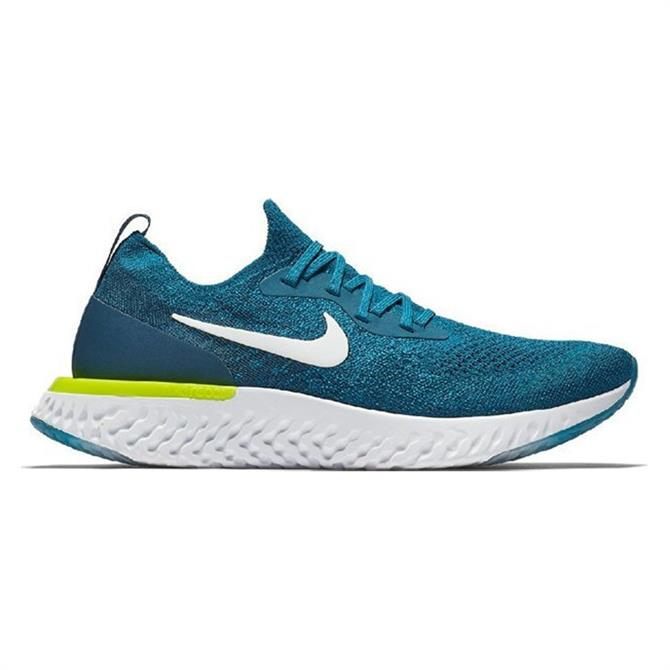 Nike Men's Epic React Flyknit Running Shoe- Green Abyss
