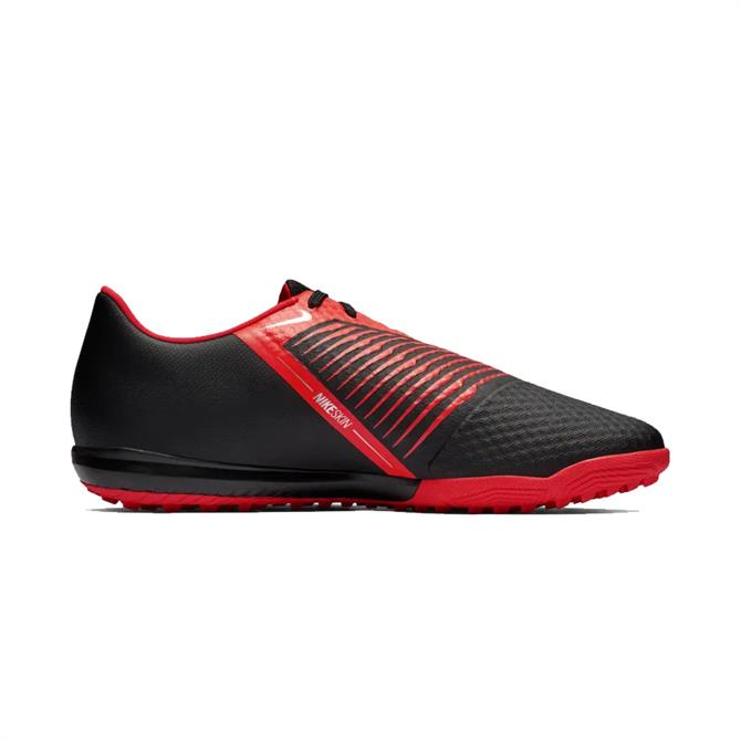 Nike Men's PhantomVNM Academy TF Turf Football Shoe - Black Crimson