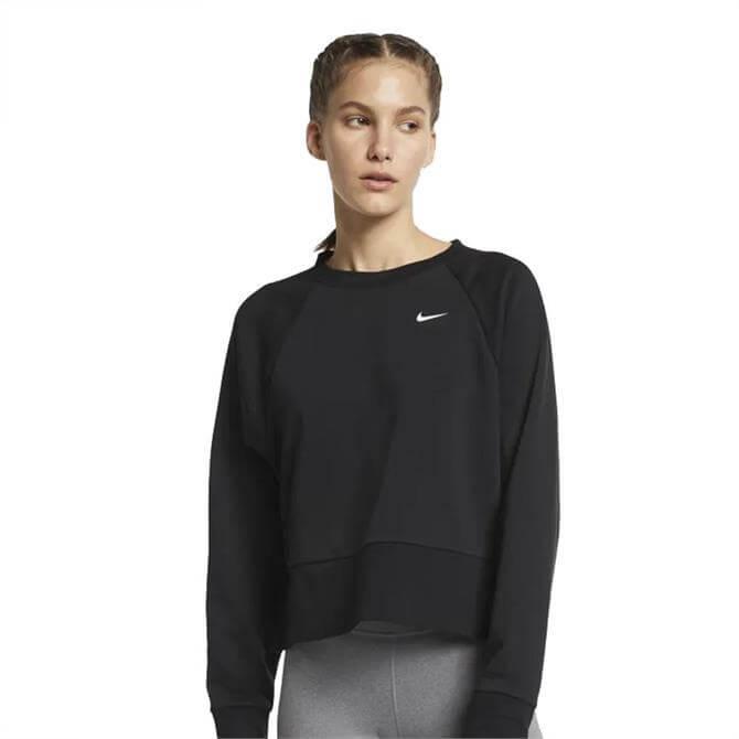 Nike Women's Dri-FIT Long Sleeve Workout Top - Black