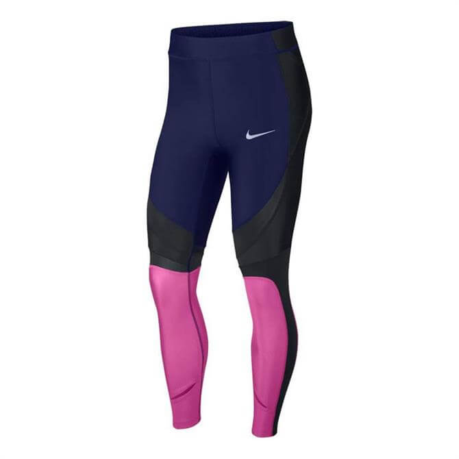 Nike Women's Power Speed 7/8 Training Tights - Blue Void