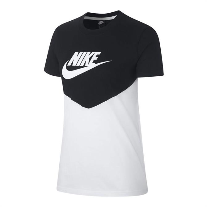 Nike Women's Heritage Vintage Short Sleeve T-Shirt - Black/White