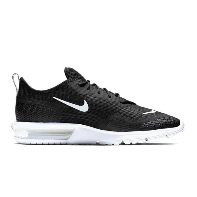 Nike Woman's Air Max Sequent 4.5 Trainers - Black/White