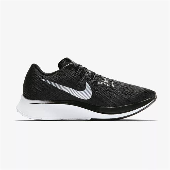 Nike Women's Zoom Fly Running Shoes- Black/White