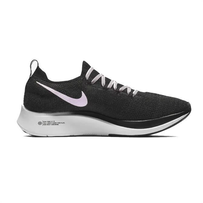 Nike Women's Zoom Fly Flyknit Running Shoes - Black Pink