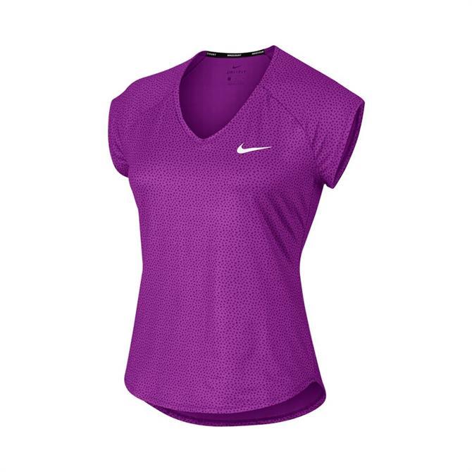 Nike Women's Pure Court Short Sleeve Tennis Top