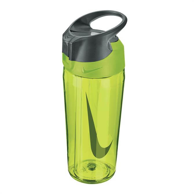 Nike Hypercharge Straw 16oz Water Bottle- Volt/Cool Grey