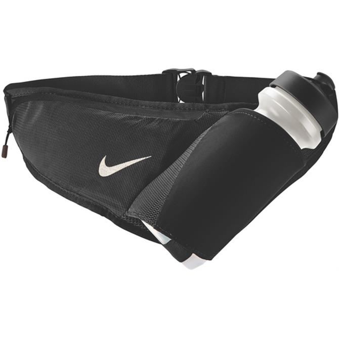 Nike Large Running Water Bottle Belt 22oz- Black/Silver