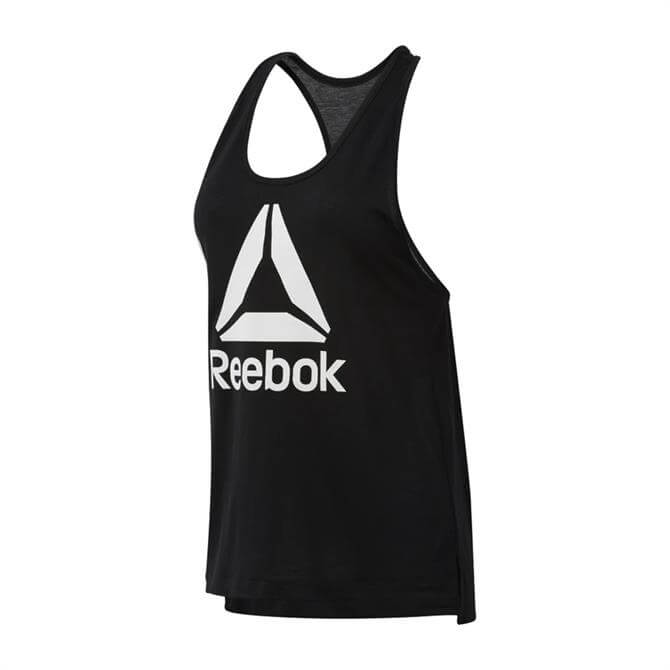 Reebok Women's WOR Supremium Logo Tank Top - Black