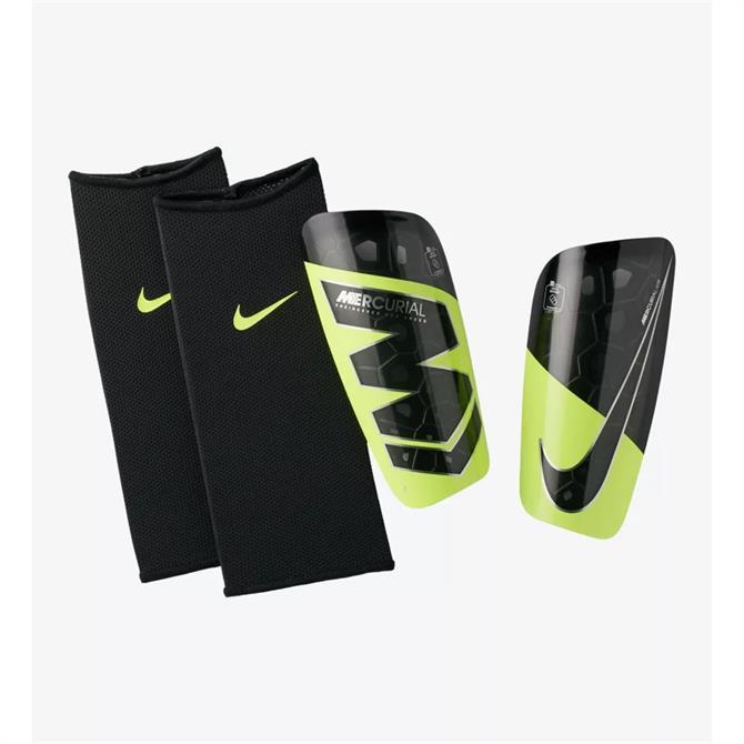 Nike Mercurial Lite Football Shinguards- Volt/Black
