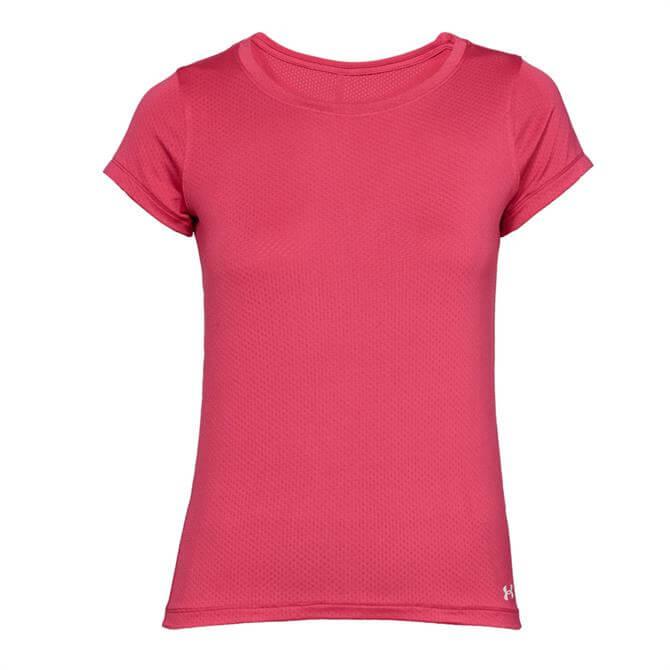 Under Armour Women's HeatGear Short Sleeve T-Shirt - Impulse Pink
