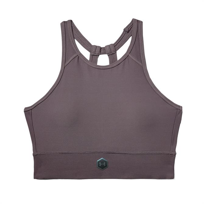 Under Armour Women's Rush Sports Bra - Ash Taupe