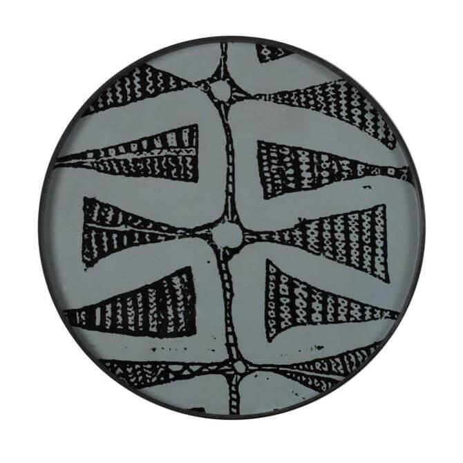 Notre Monde Wabi Sabi Dark Bohemian Large Glass Tray