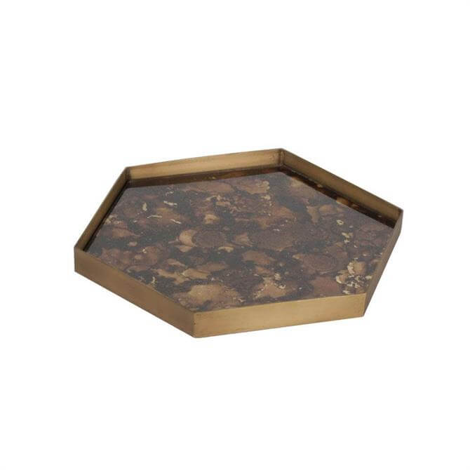 Notre Monde Mini Tray Tortoise Organic Hexagonal Large