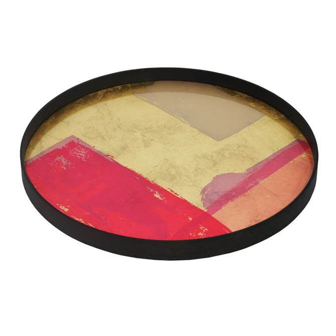 Notre Monde Raspberry Abstract Tray Large
