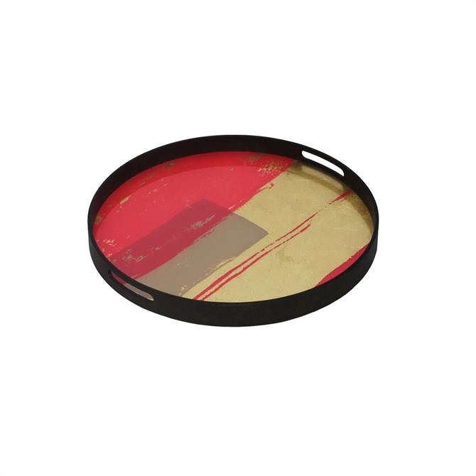 Notre Monde Raspberry Abstract Tray Small