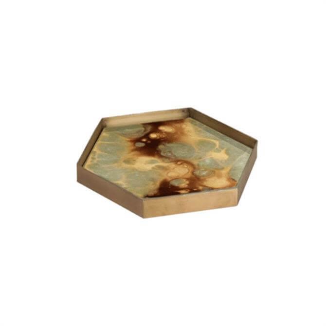Notre Monde Mini Tray Moss Organic Hexagonal