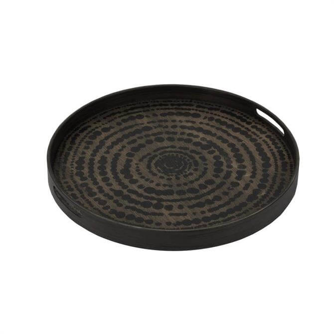 Notre Monde Tribal Quest Black Beads Driftwood Tray Small