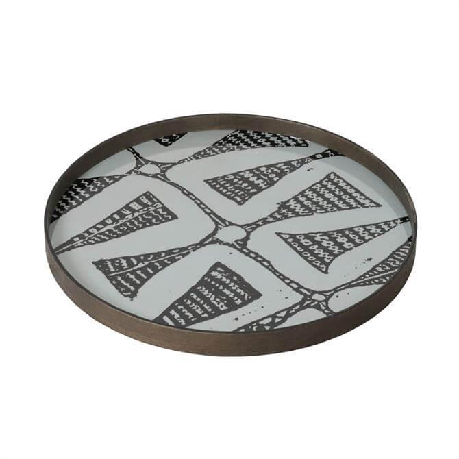 Notre Monde Wabi Sabi Graphite Bohemian Small Glass Tray